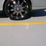 Completed polyurethane coating shining in the sun!