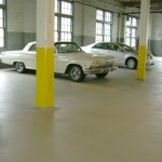 Proper maintenance and coating has given this 100 year old parking garage many more years of service.