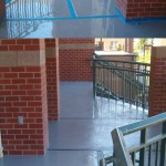 Polyurethane Deck with slip resistant surface
