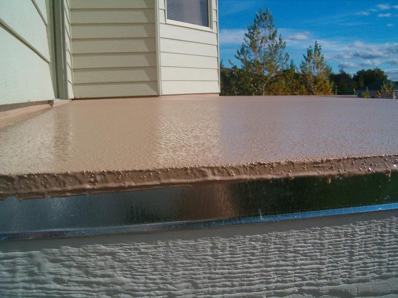 Deck Coating (Water Resistant Edge With Flashing)