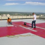 Helipad, with Slip Resistant surface