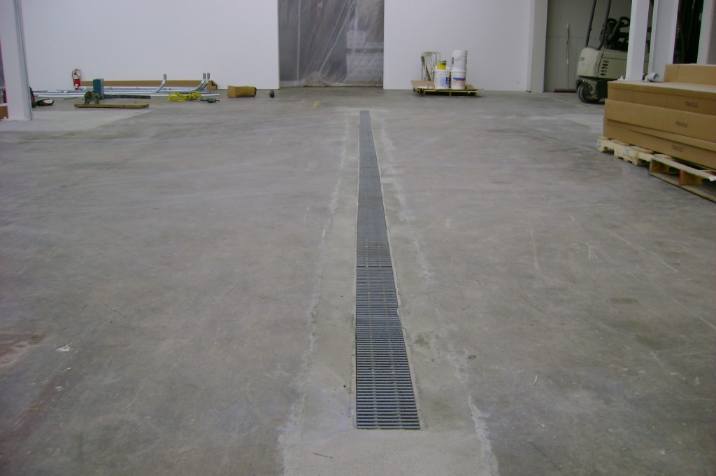 how to put a drain in a concrete floor